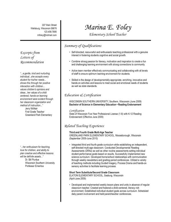resume template 3 page 1
