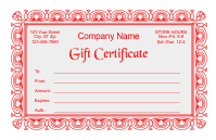 Gift Certificate Template 2 - Red