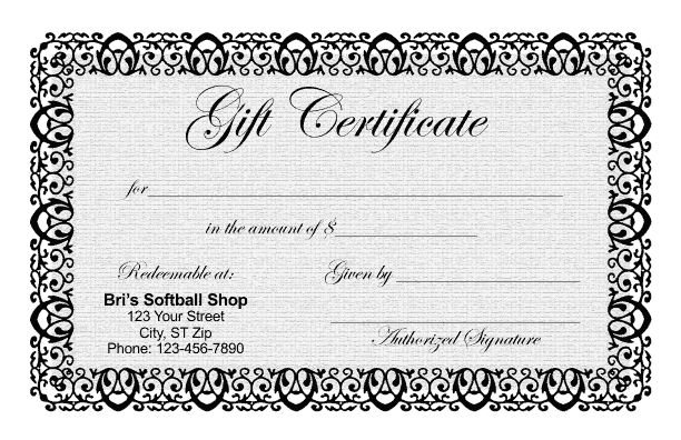 Free certificates templates borders frames and more for Free customizable gift certificate template