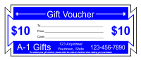 Gift Voucher Template 1 - Blue