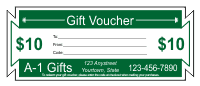 Gift Voucher Template 1 - Forest Green