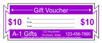 Gift Voucher Template 1 - Purple