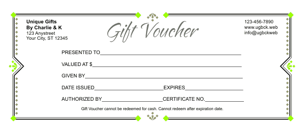 Gift Voucher Template - Downloadable gift certificate template