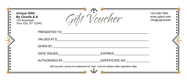 voucher template word