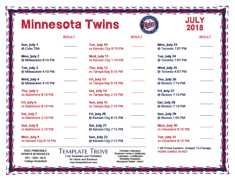 Nerdy image pertaining to twins printable schedule