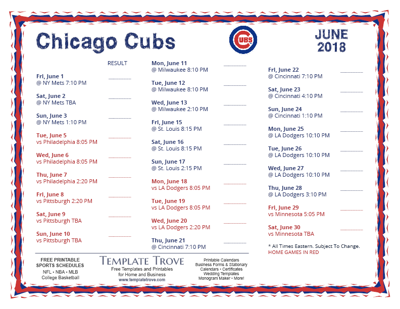 June-2018-Chicago-Cubs-Printable-Schedule-PNG Team Business Newsletter Template on business website headers, business themes, ecommerce templates, fitness newsletters templates, business reply mail template, business mailing lists, email marketing templates, appreciation flyer templates, business flyers,