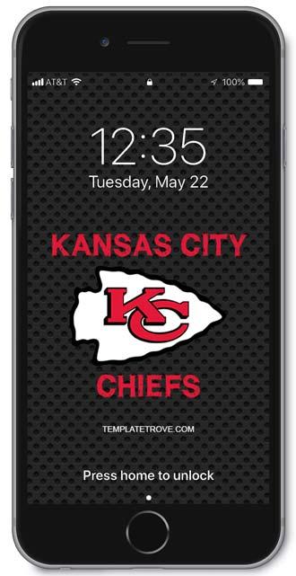 2018 2019 Kansas City Chiefs Lock Screen Schedule For Iphone