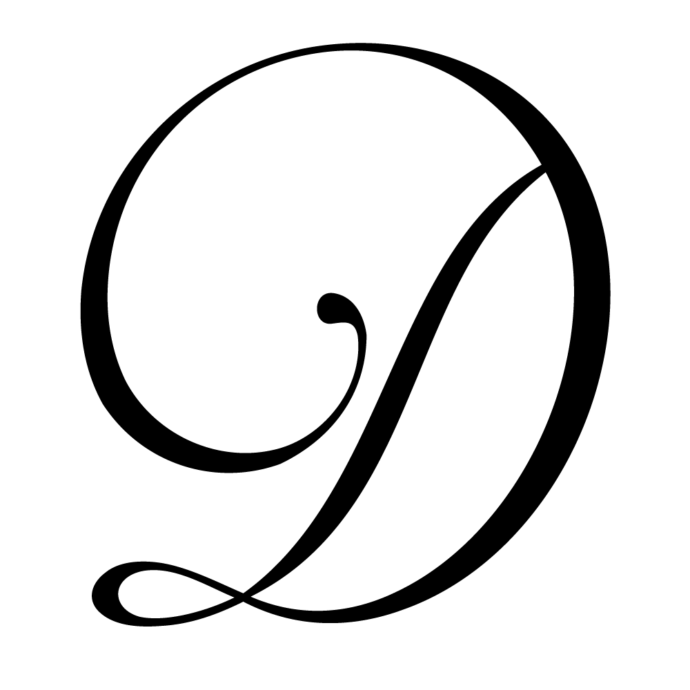 Large Monogram Letter D 3 PNG