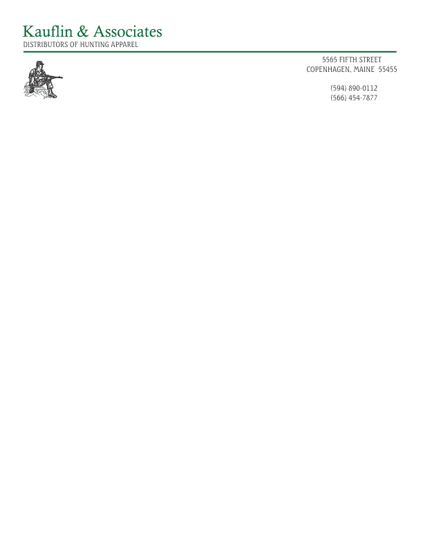letterhead template 1 black and green