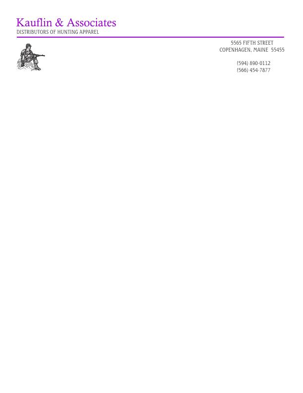 letterhead template 1