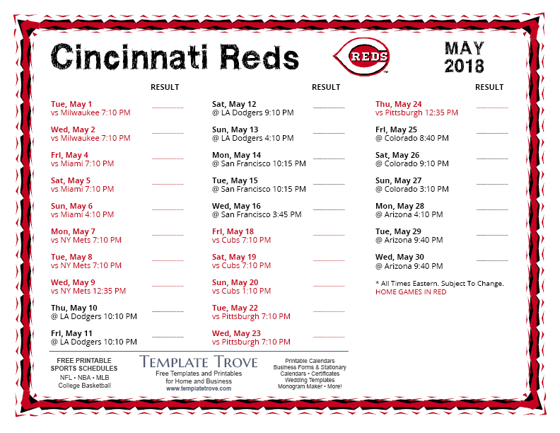 Impertinent image with regard to reds printable schedule