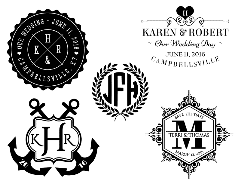 free monogram template - free wedding templates programs response cards and more