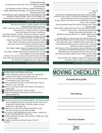 Moving Checklist - Green