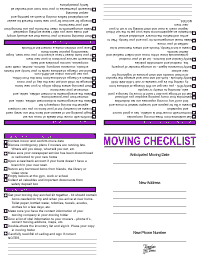 Moving Checklist - Purple