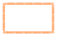 Orange Doodle Border - Half Sheet Size