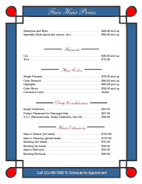 Price List Template 1 - Blue and Red
