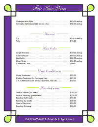 Price List Template 1 - Green and Grape