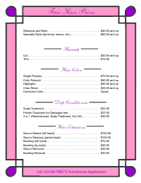 Price List Template 1 - Pink and Purple