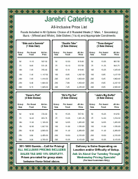Price List Template 4 - Green and Gold