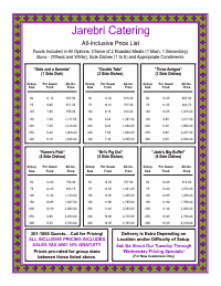 Price List Template 4 - Purple and Gold