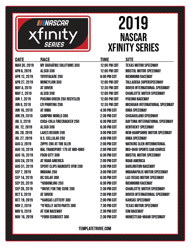 It is an image of Current Printable Nascar Schedule