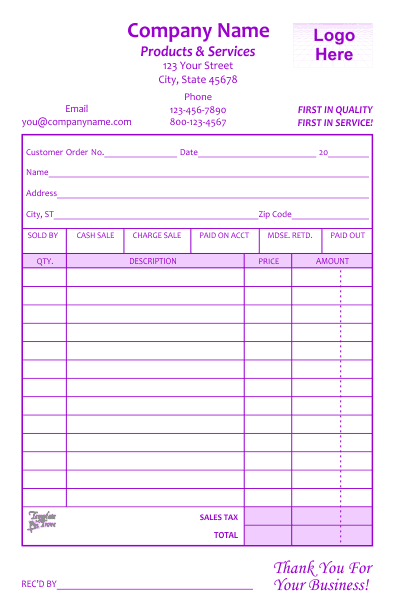 Receipt Template 1   Purple  Official Receipt Sample Format