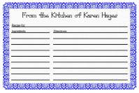 Recipe Card Template 1