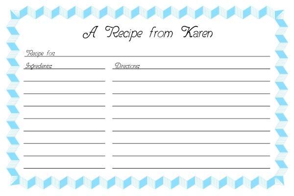 recipe card template 2