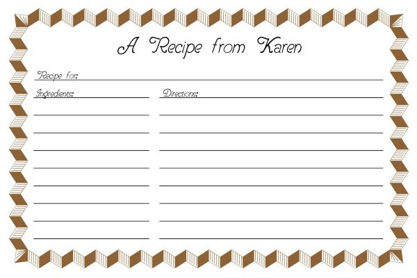 Recipe-Card-Template-2-Brown-JPG One Page Newsletter Template Word on free real estate, how make, sign up, committees june,
