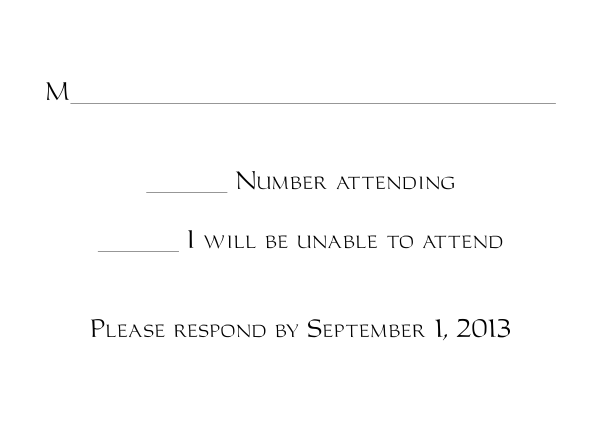 Response Card Templates 1 and 2 – Free Wedding Rsvp Card Templates