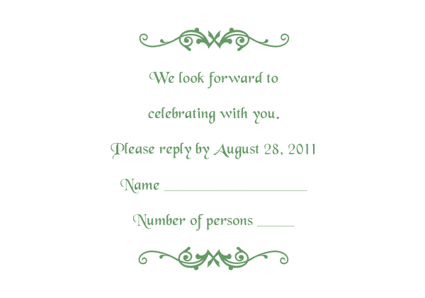response card 2 army green