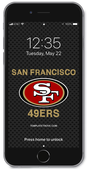 2018-2019 San Francisco 49ers Lock Screen Schedule for