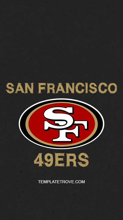 San-Francisco-49ers-Logo-Lock-Screen-iPhone-6-7-8-Plus-2 Team Newsletter Template on microsoft word, free printable monthly, free office, fun company, classroom weekly,