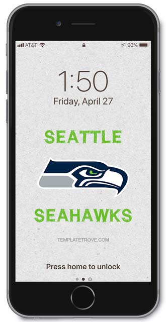 Seattle Seahawks Lock Screen 3
