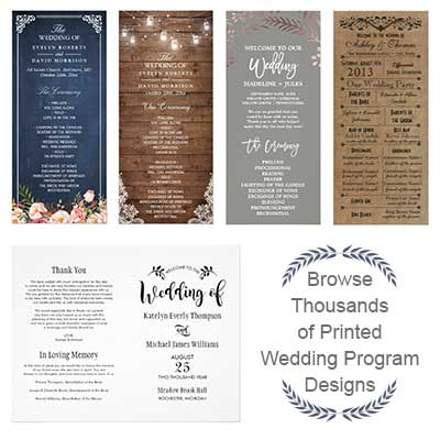 Browse Thousands of Wedding Program Designs