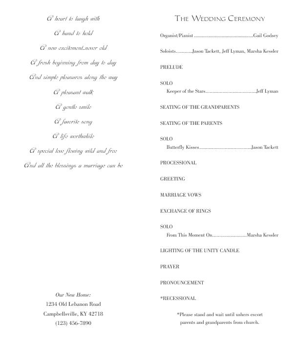 wedding program size juve cenitdelacabrera co