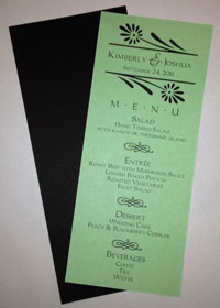 Menu Card Before Assembly
