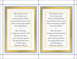 Do It Yourself Wedding Invitation 1