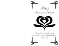 Wedding Program Cover 1 - Black