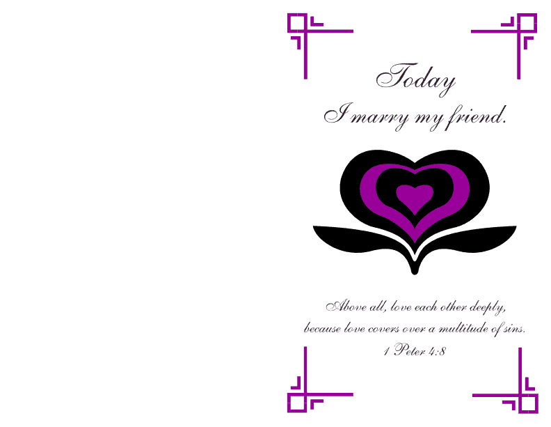 Wedding Program Cover 1 Deep Violet