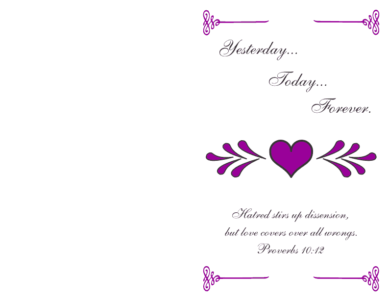 Wedding Program Cover 2 Deep Violet