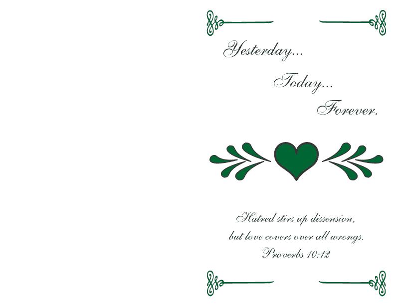 Wedding Program Cover 2