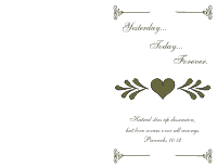 Wedding Program Cover 2 - Olive