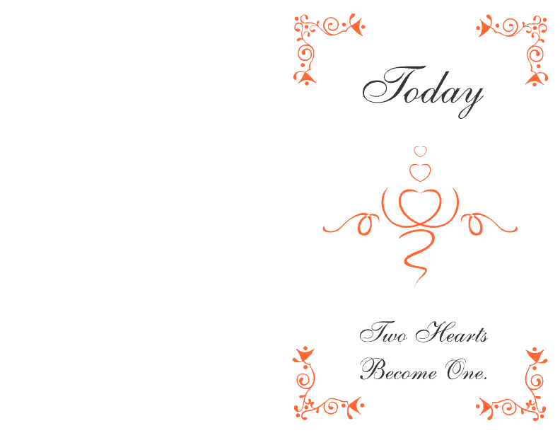 wedding program cover 3