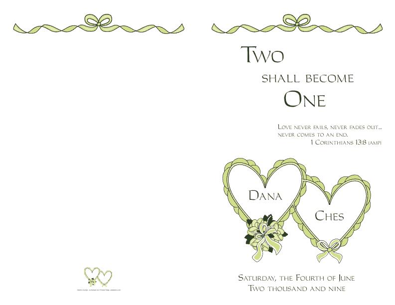 Wedding Program Cover 4