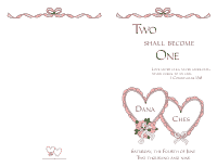 Wedding Program Cover 4 - Pink