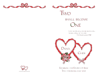 Wedding Program Cover 4 - Red
