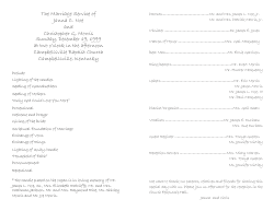 Wedding Program Template 10