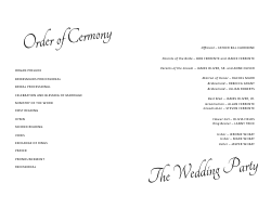 Wedding Program Template 11