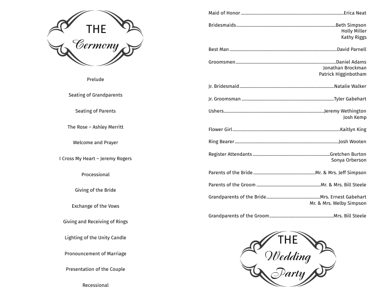 wedding program template 14